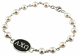 Alpha Chi Omega Tin Cup White Pearl