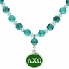 Alpha Chi Omega Turquoise Drop Necklace