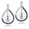 Alpha Delta Pi Black and White Figure 8 Earrings
