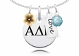 Alpha Delta Pi Cluster Necklace With Flower, Color and Love