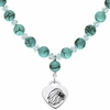 Alpha Delta Pi Heart and Turquoise Necklace