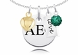 Alpha Epsilon Phi Cluster Necklace With Heart, Color and Love