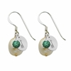 Alpha Epsilon Phi Color and Cultured Freshwater Pearl Earrings