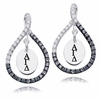Alpha Gamma Delta Black and White Figure 8 Earrings
