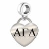 Alpha Gamma Delta Heart Drop Charm