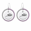 Alpha Gamma Delta Pink CZ Circle Earrings