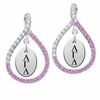 Alpha Gamma Delta Pink CZ Figure 8 Earrings