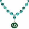 Alpha Gamma Delta Turquoise Drop Necklace