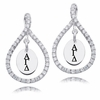 Alpha Gamma Delta White CZ Figure 8 Earrings