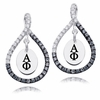 Alpha Phi Black and White Figure 8 Earrings