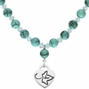 Alpha Phi Heart and Turquoise Necklace