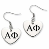 Alpha Phi Heart Drop Earrings