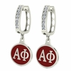 Alpha Phi Hoop Earrings