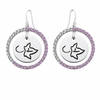 Alpha Phi Pink CZ Circle Earrings