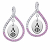 Alpha Phi Pink CZ Figure 8 Earrings