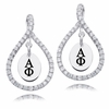Alpha Phi White CZ Figure 8 Earrings