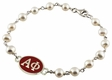 Alpha Phi White Pearl Sorority Bracelet