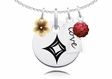 Alpha Sigma Alpha Cluster Necklace With Flower, Color and Love