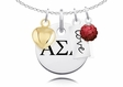 Alpha Sigma Alpha Cluster Necklace With Heart, Color and Love