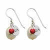 Alpha Sigma Alpha Color and Cultured Freshwater Pearl Earrings