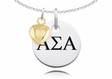 Alpha Sigma Alpha Necklace With Gold Heart Charm Accent