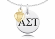 Alpha Sigma Tau Necklace With Gold Heart Charm Accent