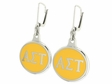 Alpha Sigma Tau Silver Earrings