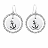 Alpha Sigma Tau White CZ Circle Earrings