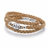 Alpha Xi Delta Braided Leather Bracelet
