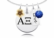 Alpha Xi Delta Cluster Necklace With Flower, Color and Love