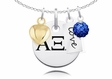 Alpha Xi Delta Cluster Necklace With Heart, Color and Love