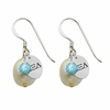 Alpha Xi Delta Color and Cultured Freshwater Pearl Earrings