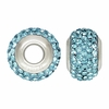 Aqua Swarovski Elements Crystal Bead