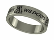 Arizona Wildcats Stainless Steel Ring