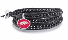 Arkansas Razorbacks Black Wrap Bracelet