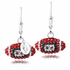 Arkansas Crystal Football Earrings
