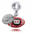 Arkansas Razorbacks Crystal Drop Charm