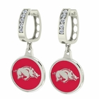 Arkansas Razorbacks CZ Hoop Earrings