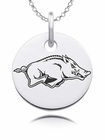 Arkansas Razorbacks Round Charm