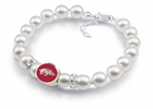 Arkansas Razorbacks White Pearl Bracelet