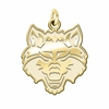 Arkansas State Red Wolves 14K Yellow Gold Natural Finish Cut Out Logo Charm