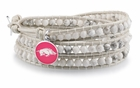 Arkansas Razorbacks White Wrap Bracelet
