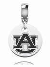 Auburn Engraved Round Dangle Charm