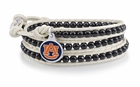 Auburn Tigers Black and White Wrap Bracelet