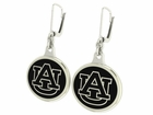 Auburn Tigers Black Enamel Earrings