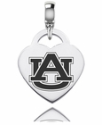 Auburn Tigers Engraved Heart Dangle Charm