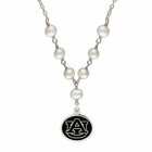 Auburn Tigers Black Enamel Pearl Necklace