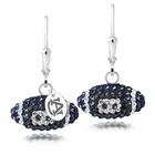 Auburn Tigers Crystal Football Earrings