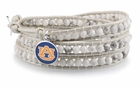 Auburn University White Wrap Bracelet