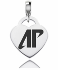 Austin Peay Engraved Heart Dangle Charm